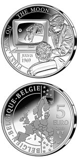 5 euro coin 50th Anniversary of the Moon Landing | Belgium 2019
