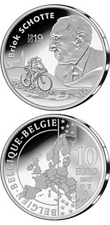 10 euro coin 100th anniversary of Briek Schotte's birth | Belgium 2019