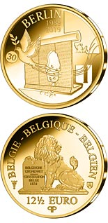 12.5 euro coin 30 Years of Fall of the Berlin Wall | Belgium 2019