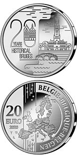 20 euro coin 20 Years Historical Bruges | Belgium 2020