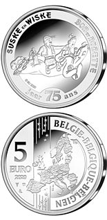 5 euro coin 75 years Luke and Lucy | Belgium 2020