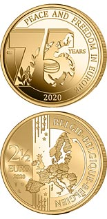 2.5 euro coin 75 Years of Peace and Freedom in Europe | Belgium 2020
