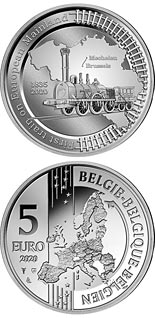 5 euro coin 185th Anniversary of the First Train Line