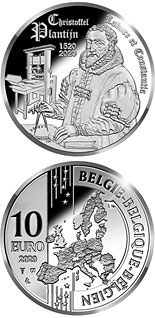 10 euro coin 500th birthday Christoffel Plantijn | Belgium 2020