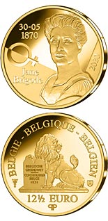 12.5 euro coin 125th Anniversary of the Birth of Jane Brigode | Belgium 2020