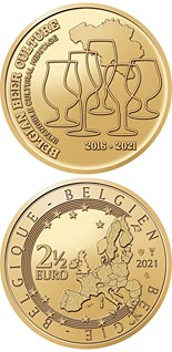 2.5 euro coin 5 years Belgian beer culture intangible heritage | Belgium 2021