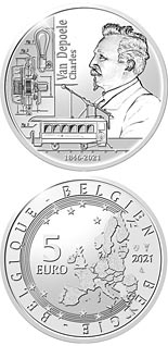 5 euro coin 175th anniversary of birth Charles Van Depoele | Belgium 2021