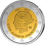 2 euro 75 years Queen Elisabeth Competition  - 2012 - Series: Commemorative 2 euro coins - Belgium