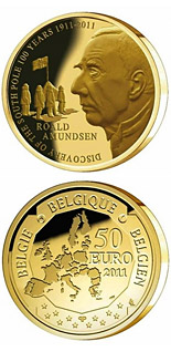 50 euro Discovery of the South Pole 100 years - 2011 - Series: Gold 50 euro coins - Belgium