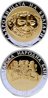 10 lev  coin The Gold Mask  | Bulgaria 2005