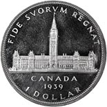 1 dollar coin The Royal Visit | Canada 1939