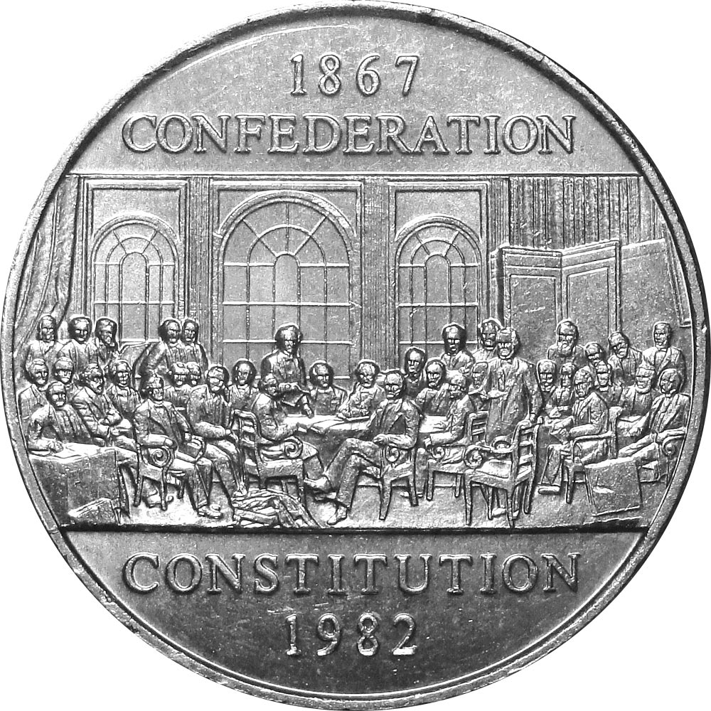 Image of a coin 1 dollar | Canada | The Constitution commemorative coin | 1982