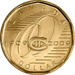 1 dollar coin Montreal Canadiens | Canada 2009