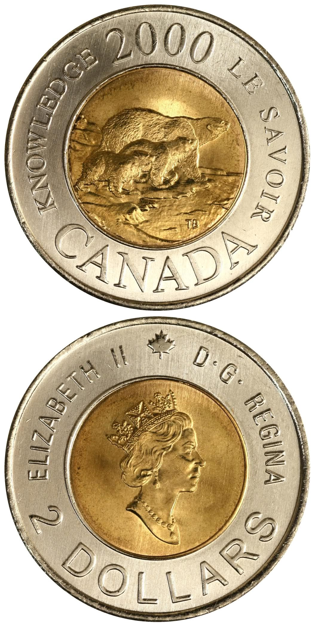 Canada 2 Dollar Commemorative Coins Non-Coloured Toonie Set