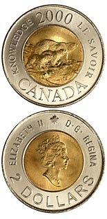 2 dollar coin Path of Knowledge | Canada 2000