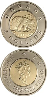 2 dollar coin The 50th anniversary of Queen Elizabeth's reign | Canada 2002