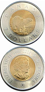 2 dollar coin 10th Anniversary of Toonie | Canada 2006