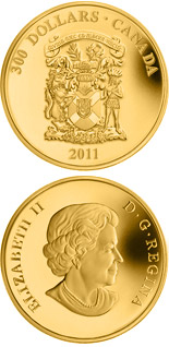 300 dollar coin Nova Scotia Coat of Arms | Canada 2011