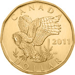 1 dollar coin Great Grey Owl | Canada 2011
