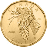 1 dollar coin Northern Harrier | Canada 2010