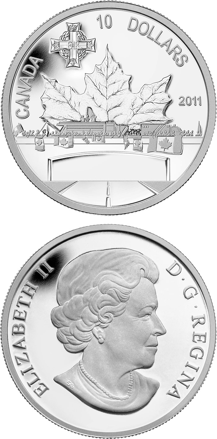Image of a coin 10 dollars | Canada | Highway of Heroes | 2011