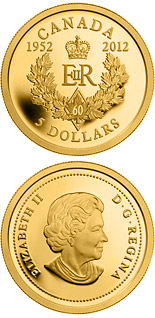 5 dollar coin The Queen's Diamond Jubilee | Canada 2012
