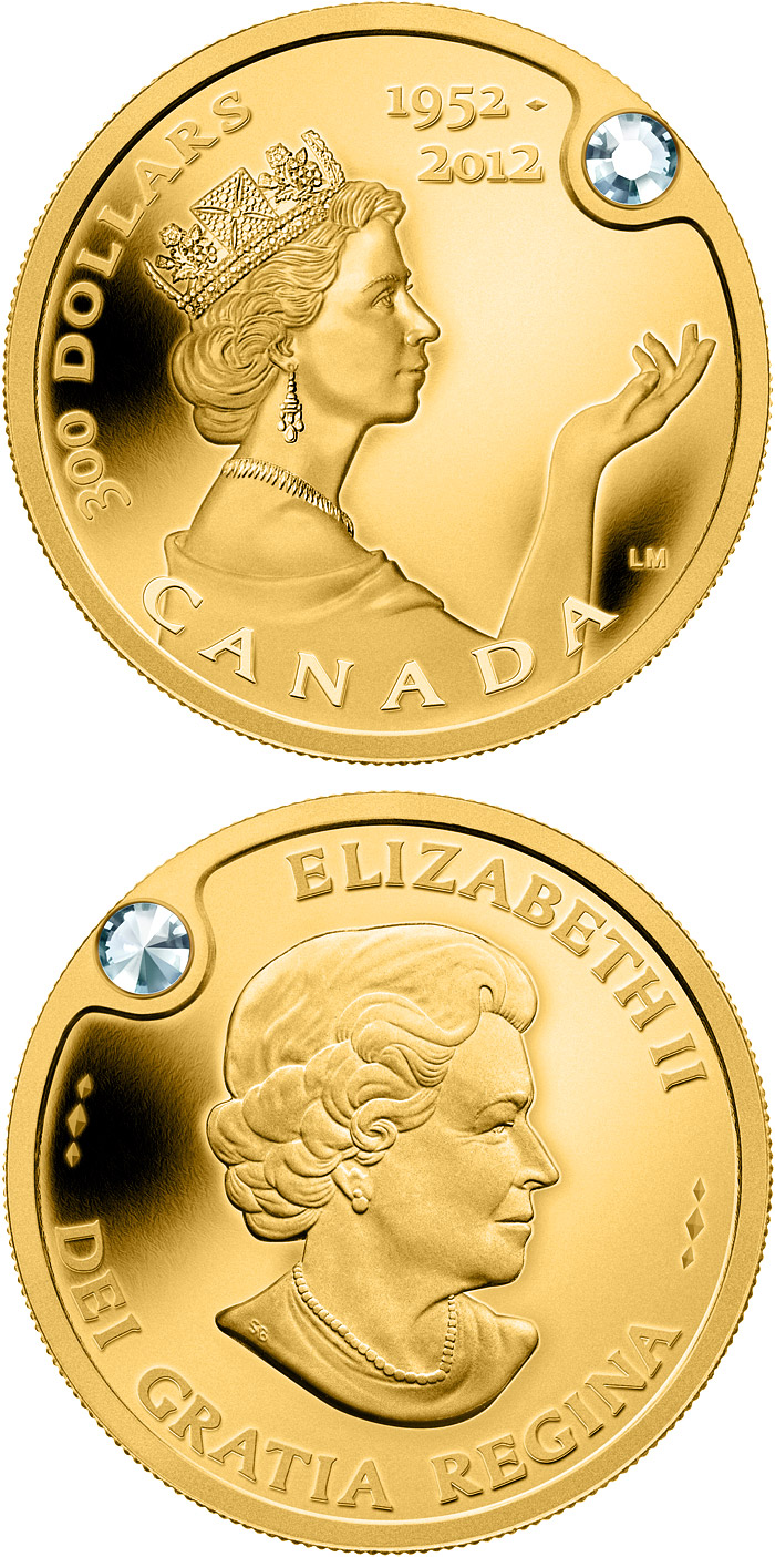 Image of a coin 300 dollars | Canada | The Queen's Diamond Jubilee | 2012
