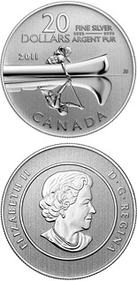 20 dollars The Canoe - 2011 - Series: 20 dollars pure silver coins - Canada