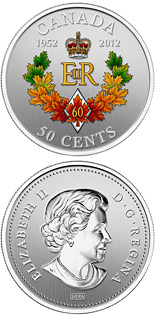 50 cents coin The Queen's Diamond Jubilee Emblem for Canada | Canada 2012