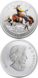 25 cents 100th Anniversary of the world-renowned Calgary Stampede - 2012 - Canada