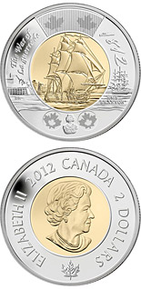 2 dollars War of 1812: HMS Shannon - 2012 - Series: Commemorative Circulation Toonies - Canada