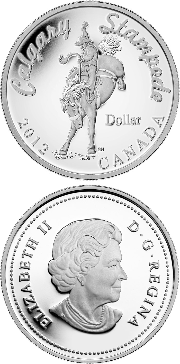 1 Dollar Coin Calgary Stampede Canada 2012
