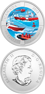 25 cents coin 50th Anniversary of the Canadian Coast Guard  | Canada 2012