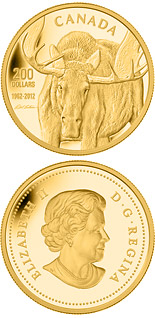 200 dollar coin Robert Bateman Moose | Canada 2012