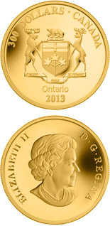 300 dollar coin Ontario Coat of Arms | Canada 2013