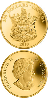 300 dollar coin British Columbia Coat of Arms | Canada 2010