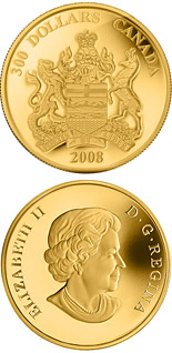 300 dollar coin Alberta Provincial Coat of Arms | Canada 2008
