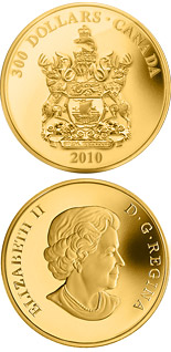 300 dollar coin New Brunswick Coat of Arms | Canada 2010