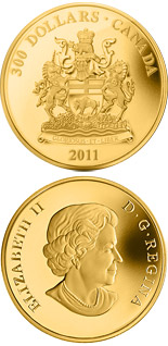 300 dollar coin Manitoba Coat of Arms | Canada 2011