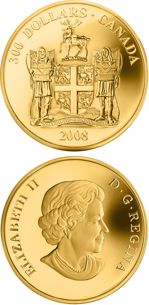 300 dollars Newfoundland and Labrador Coat of Arms - 2008 - Series: Coat of Arms - Canada