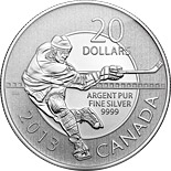 20 dollars Hockey - 2013 - Series: 20 dollars pure silver coins - Canada
