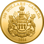 300 dollar coin Saskatchewan Coat of Arms | Canada 2014