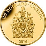 300 dollar coin Canada Coat of Arms | Canada 2014