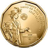 1 dollar coin 100th Anniversary of Women's Right to Vote | Canada 2016