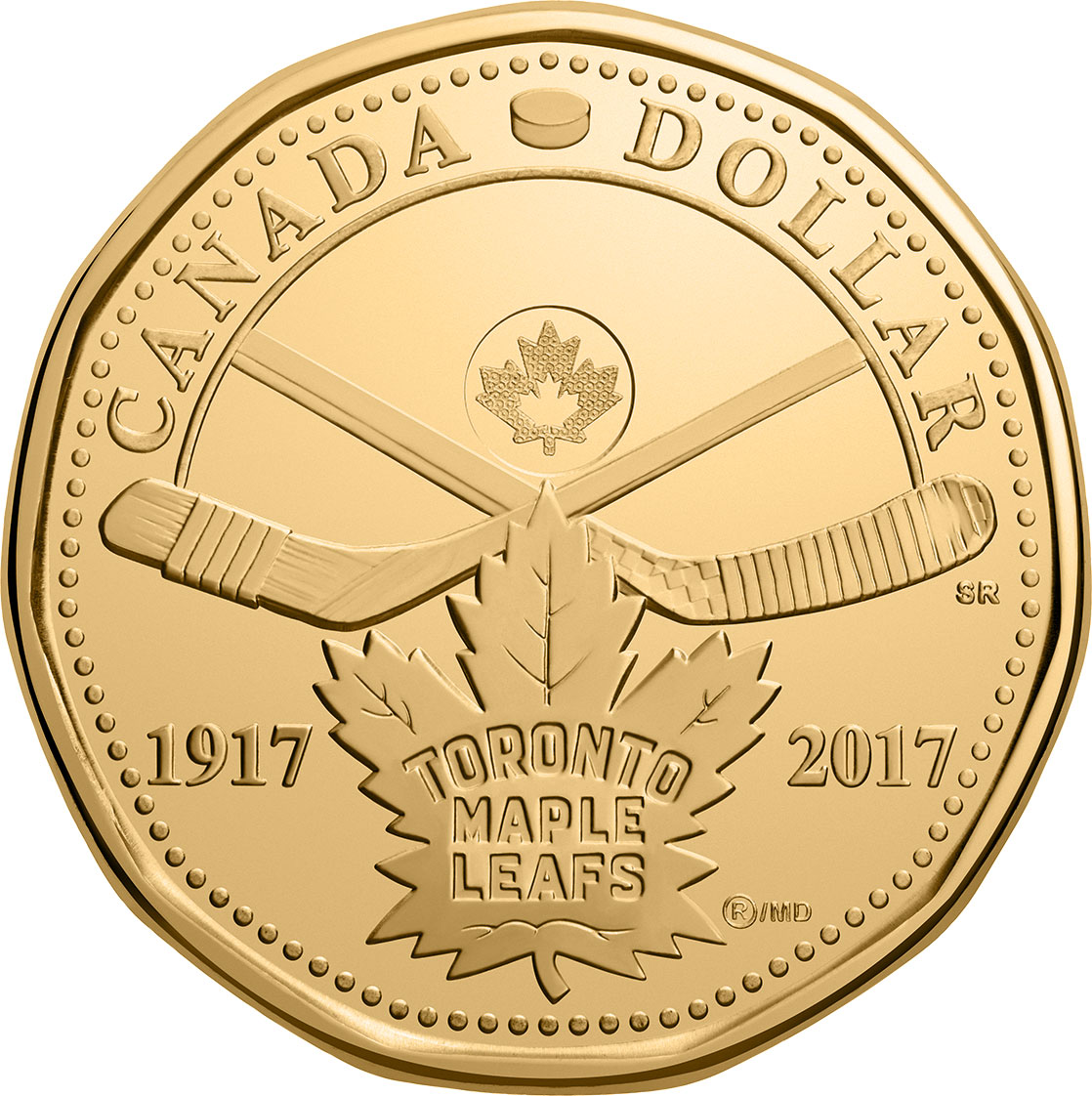 Image of 1 dollar coin - 100 years of the Toronto Maple Leafs | Canada 2017