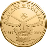 1 dollar coin 100 years of the Toronto Maple Leafs | Canada 2017