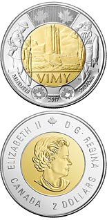 2 dollar coin The Battle of Vimy Ridge | Canada 2017