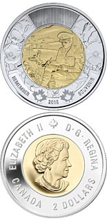 2 dollar coin 100th anniversary of the In Flanders Fields poem | Canada 2015