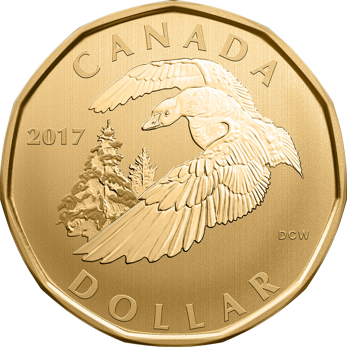 Image of 1 dollar coin - Snow Goose | Canada 2017