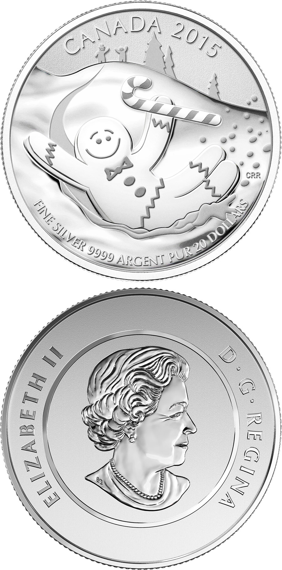 20 dollars Gingerbread Man - 2015 - Series: 20 dollars pure silver coins - Canada